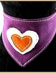 Violet cuir véritable Eco-friendly Bandana colliers pour animaux de compagnie Chiens (tailles assorties)