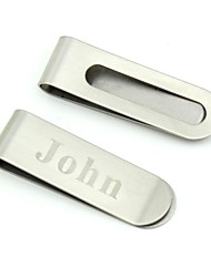 Personalized Stainless Steel  Money Clip - Circular Hollow