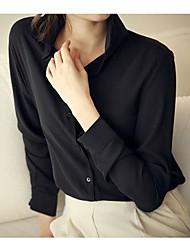 Moda feminina manga comprida Chiffon