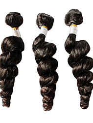 20Inches 100% Virgin Hair Peruvian Loose Wave Natural Color