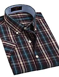 Casual Violet Bleu Noir Jaune Couvertures de U-hommes de requin Vérifie 100% coton T-shirt manches courtes Blouse Top EOZY DSX-011