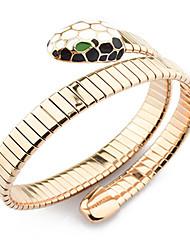 rosa brazalete de serpiente de oro