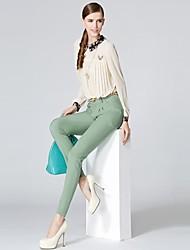 Mince OSA sucrerie de femmes occasionnelles de couleur Pantalon cigarette