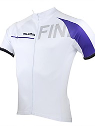 PALADIN Cycling Tops / Jerseys Men's Bike Breathable / Ultraviolet Resistant / Quick Dry Short Sleeve 100% Polyester WhiteS / M / L / XL