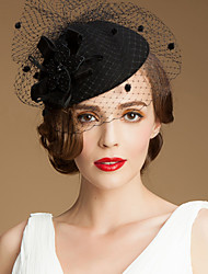 Women's Tulle Wool Headpiece-Wedding Special Occasion Casual Outdoor Hats