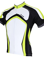 ILPALADINO Cycling Jersey Men's Short Sleeves Bike Jersey Tops Quick Dry Ultraviolet Resistant Breathable 100% Polyester Stripe Spring