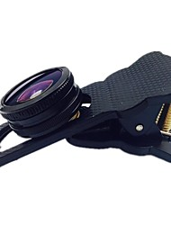 Universal Clip-On Wide Angle Fish Eye Lens + Macro Lens for All Phone and Tablet PC
