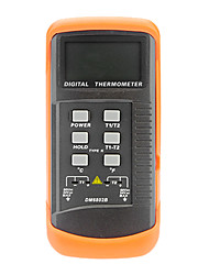 Dual-Channel-K Typ Thermoelement Thermometer Digital LCD Temperatur-Messgerät (-50 ~ 1300 ℃, 1 ℃)
