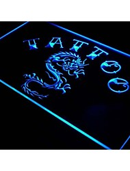 i700 Tattoo Chinese Dragon Ink Open Neon Light Sign