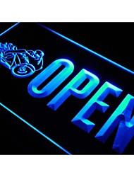j763 OPEN Motorräder Auto Shop Auto-Neonlicht-Zeichen