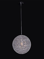 Simple Spherical Metal Frame K9 Crystal Chandelier