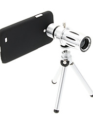 Увеличить 12X телефото Металл мобильного телефона объектива с треногой для Samsung S4