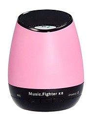 K8 sans fil Bluetooth 2.1 Speaker TF / USB / AUX Speake - rose