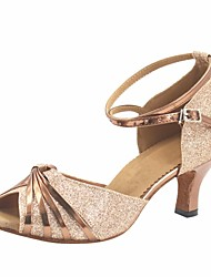 Scarpe da ballo Donna - Moderno - Customized Heel - Vernice / Glitter - Marrone