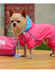 New Fashion PVC Double-thick Mesh With Four Legs Windproof Rraincoat  for Pet Dogs(Assorted Size,Assorted Color)