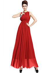 Women's Leopard Chiffon Ball Gown Backless Strap Plus Size Maxi Dress