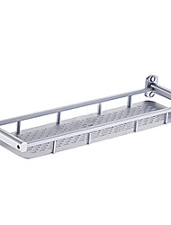 Contemporary Aluminum Single Shelf Bathroom Shelf