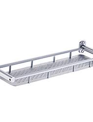 Contemporânea de alumínio única prateleira prateleira do banheiro