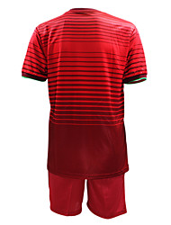Men's Short Sleeves Soccer Suit Burgundy