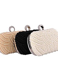 Women's Bridal pearl diamond evening bag hand bag chain bag buckle ring 129