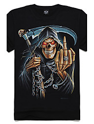 m-impero t-shirt di cotone 3D cranio falce