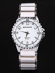 JingPinShiBiao l'Europe raffinement romantique strass Casual Watch (Blanc)