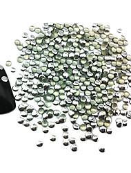 100PCS 3x3mm Runde Punk Rivet Silber-Nagel-Kunst-Dekorationen