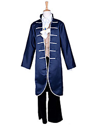 Cosplay Costumes / Party Costume Fairytale Festival/Holiday Halloween Costumes Blue Patchwork Coat / Vest / Pants / TieHalloween /