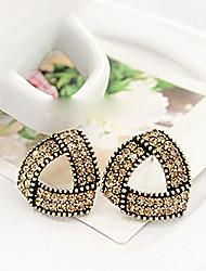 HUAIJIE l'Europe Raffinement Noble Diamond Boucles d'oreilles (or, argent)