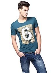 Summer Casual col rond de mode T-shirts U-requin hommes Sauvegarde shirt EOZY