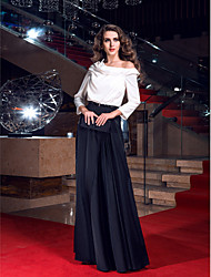 TS Couture Prom Formal Evening Military Ball Dress - Elegant Celebrity Style Sheath / Column Cowl Sweep / Brush Train Stretch Satin with