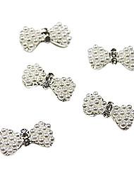 1PCS Silber Legierung 3D Bow Tie-Nagel-Kunst-Dekorationen