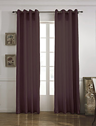 Modern One Panel Solid Chocolate Living Room Polyester Panel Curtains Drapes
