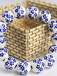 Blue and white Classic Ethnic Style Ceramic Porcelain Beads Bracelet(Screen Color)