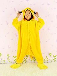 pikachu flanela crianças Kigurumi pijamas com design zip para vaso sanitário