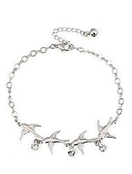 Классический Летающий Swollow Женщины серебряный сплав ножные браслеты (28см * 1.7cm * 0.4cm) (1 шт)