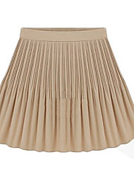 Women's Pleats Chiffon Mini Skirt