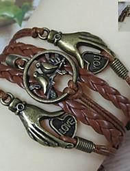 shixin® vintage pássaro rei indissociável com o amor na mão 20 centímetros pulseira envoltório liga das mulheres (1 pc)