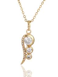 YUE LE Women's 18K Gold Zircon Pendant Incl. Chain D0237