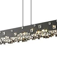 40W Moderno / Contemporáneo Cristal Cromo Metal Lámparas Araña