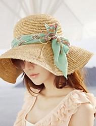 Mode Tissu bowknot chapeau de plage des femmes