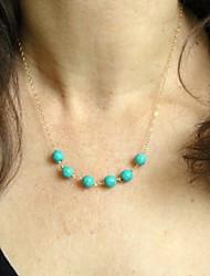 moda shixin® azul turquesa collar de cadena de aleación (1 unidad)