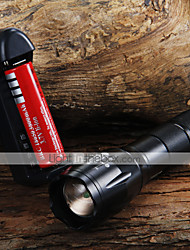 LED Flashlights/Torch Handheld Flashlights/Torch LED 1600 Lumens 3 Mode Cree XM-L T6 Adjustable Focus Zoomable for Camping/Hiking/Caving