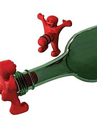 Red Adult Cheeky Fun Happy Man Bottle Stopper Wine Beer Novelty Gag