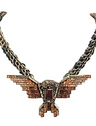 Collier surdimensionné JANE PIERRE cristal orange Aigle mode