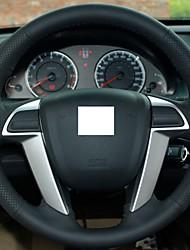 Подлинная кожаный чехол рулевого колеса для Honda Accord 8 2008-2013 Accord Черный Красный швейных ниток
