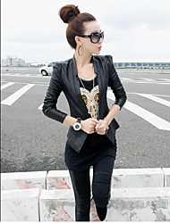 Women's Punk Slim Leather Motorcycle Coat