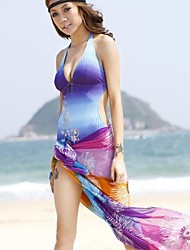 Women's Cover-Ups , Floral Polyester Multi-color