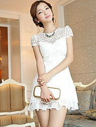 Luto New 2014 Spring Summer Sexy Lace Waist Dress(Without Necklace)