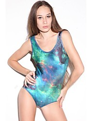 Frauen-Sommer-Fashion Emerald Green Galaxy Teddy Bikini
